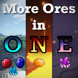 [Forge] [1.17.1] More Ores in ONE - Community Mod! (Adds Ores in the Overworld, Nether & End!) Minecraft Mod