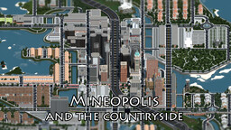 Mineopolis and the Countryside | Huge Realistic Modern City Solo Project Minecraft Map & Project