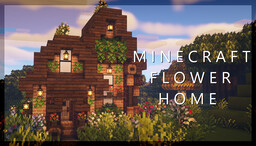 Simple Flower House Minecraft Map & Project