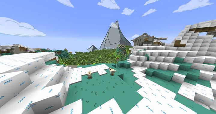 Custom Mountain Background