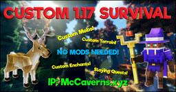 McCaverns Network [Custom Terrain + Mobs!] [1.17+] Minecraft Server
