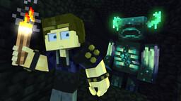 Warden In The Dark - Minecraft Caves & Cliffs Animation Minecraft Blog