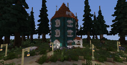 MOOMINVALLEY MAP! Completely explorable with every location from the 90's anime! Minecraft Map & Project
