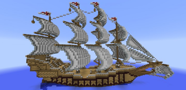 How To Build A Wooden Ship In Minecraft