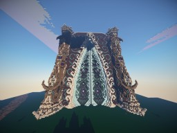 Elven Palace Entrance Doorway Minecraft Map & Project