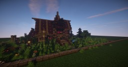 Simple Medieval House + Garden - [Free Download] Minecraft Map & Project