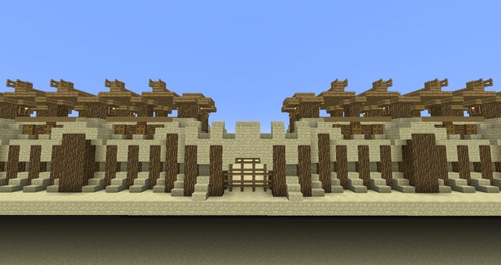 Desert fortress building kit minecraft project for Fortress build