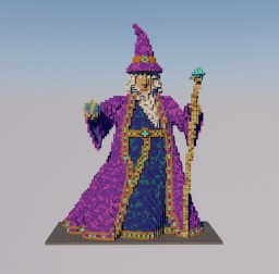 3D wizard Minecraft