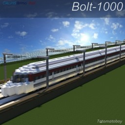 Bolt-1000   High Speed Train   CB Rail Minecraft Map & Project