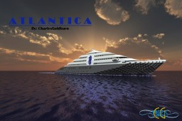 Atlantica | SuperYacht [+Download] [+Full Interior] Minecraft
