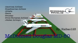 McDonnell Douglas MD-80 [8 Liveries] Minecraft