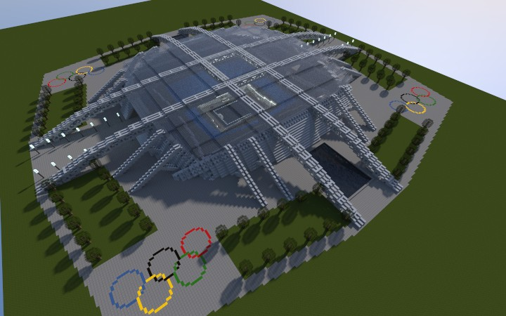 Olympic Water Polo Arena Minecraft Project