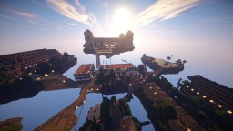 The floating city of Columbia. Inspired by Bioshock Infinite. Minecraft Map & Project