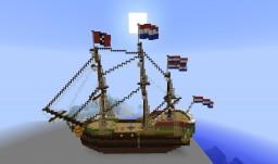 VOC ship Amsterdam Minecraft Map & Project