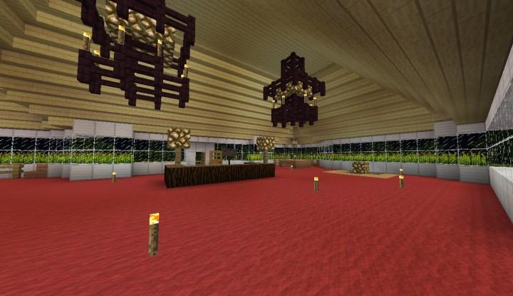 Minecraft golf clubhouse decor