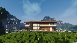 ~Slim~ Modern House Minecraft Map & Project