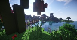 Fantasy town [Done in survival] - 100 subs special Minecraft Map & Project
