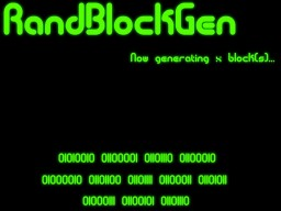 RandBlockGen - What do you want to build with?