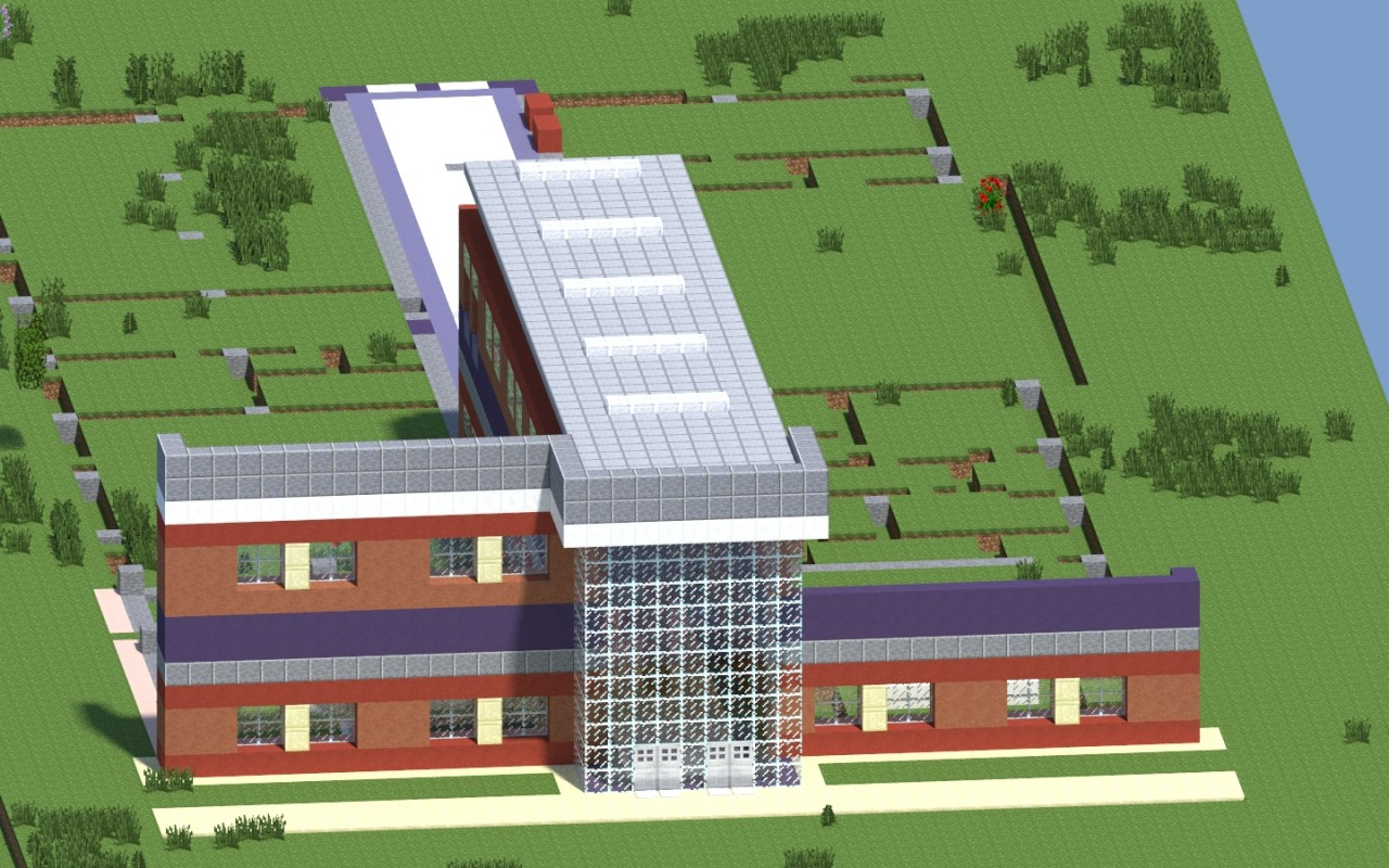 how to build a elementary school in minecraft