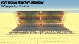 Multipurpose Sugar Cane Farm (includes cactus, melon, and pumpkin) Minecraft Map & Project