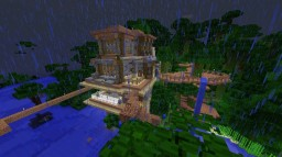 Jungle House with Modern twist Minecraft Map & Project