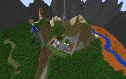 City Between Mountains Minecraft
