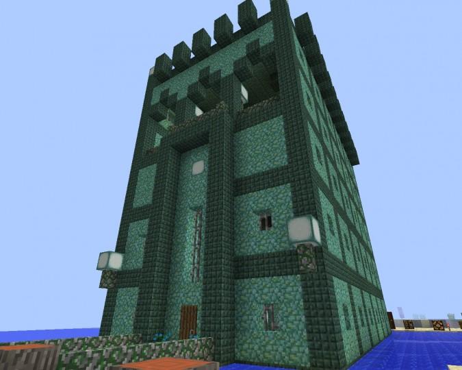 Prismarine Tower Minecraft Project