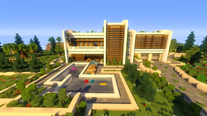 Ecological and modern house minecraft project for Big modern houses on minecraft