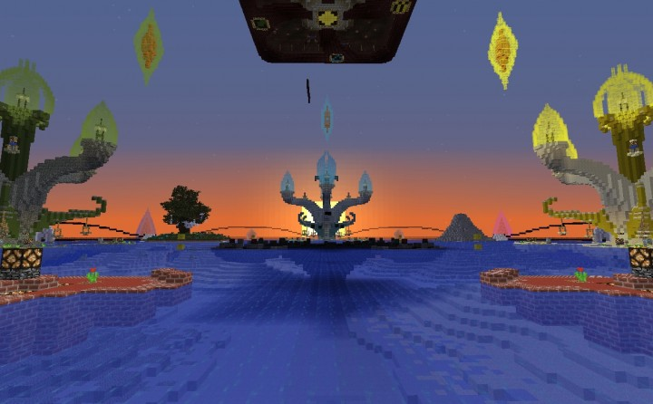 The daynight cycle, hunger, mob spawns, and block breaking and placing are all turned on. This map is intended to be a test of each teams ability to creatively problem-solve using all the tools and resources available to players in Survival Minecraft.