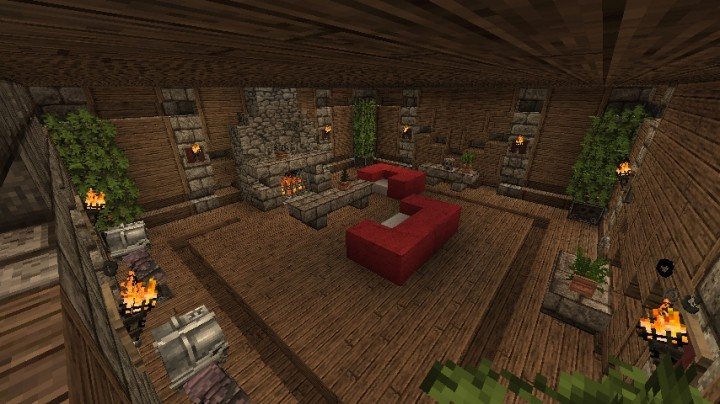 Medieval interior ideas minecraft project for Minecraft house interior living room