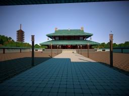 Japanese city with palace Minecraft