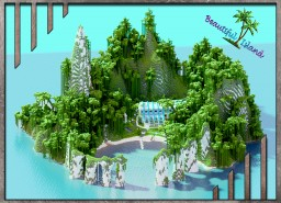 A modern Villa with beautiful island [500x500 custom show Map]  * map download Minecraft Project