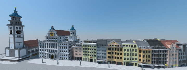 Augsburg German City Minecraft Project