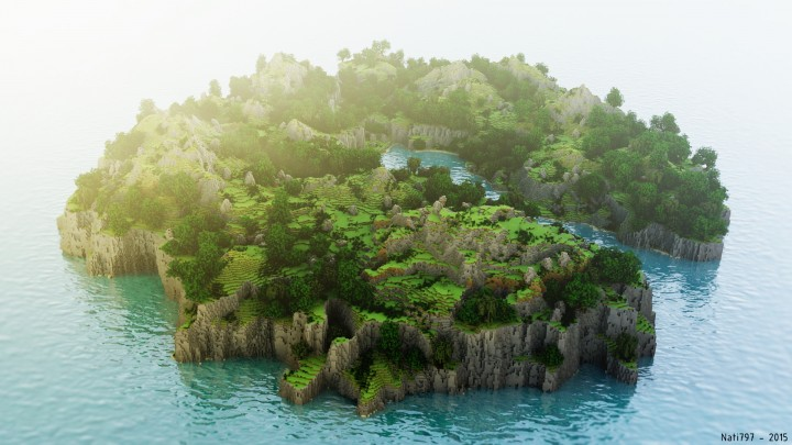 Cliff side world painter minecraft project 228 diamonds sciox Image collections