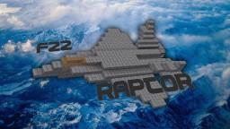 F-22 Raptor Minecraft Map & Project