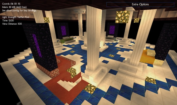 There are four portals at the top of the Nether tower that, when used, create portals on the corresponding teams island, unless another portal has first been lit nearby. They can be used to bypass an opposing teams defenses, but can also be trapped.