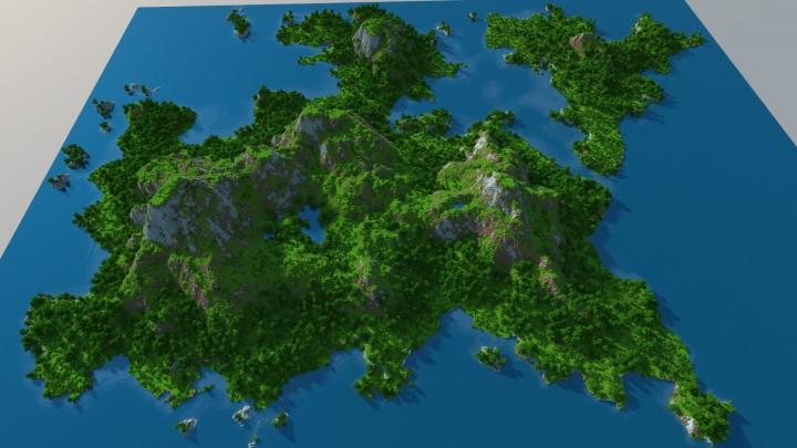 Minecraft Map Snowy Island