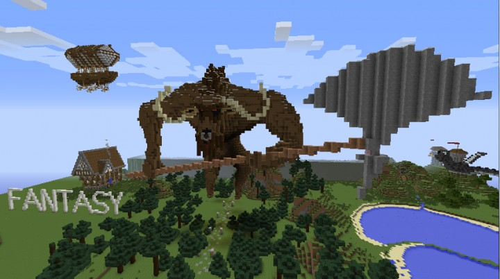 Fantasy and Town Economy Worlds in Creative and SMP