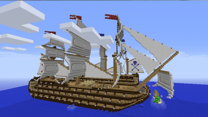 Pirate SHIPS  TOWN ! Role Play  NON-PVP Survival Towns