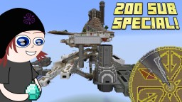200 Sub Special! - Massive Aeronautical Mega Mansion! Minecraft Map & Project