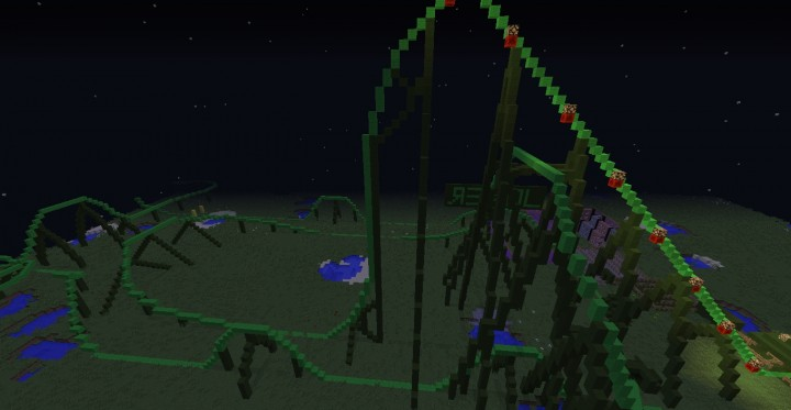 how to build a basic roller coaster in minecraft
