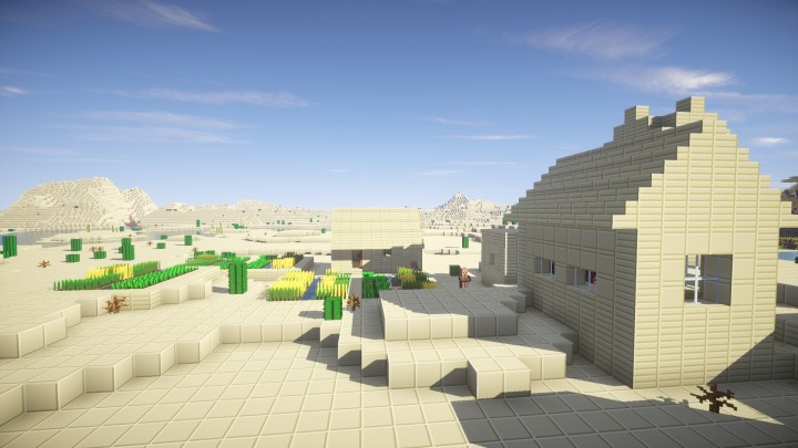 With SEUS - Sandstone texture changed slightly since picture was taken