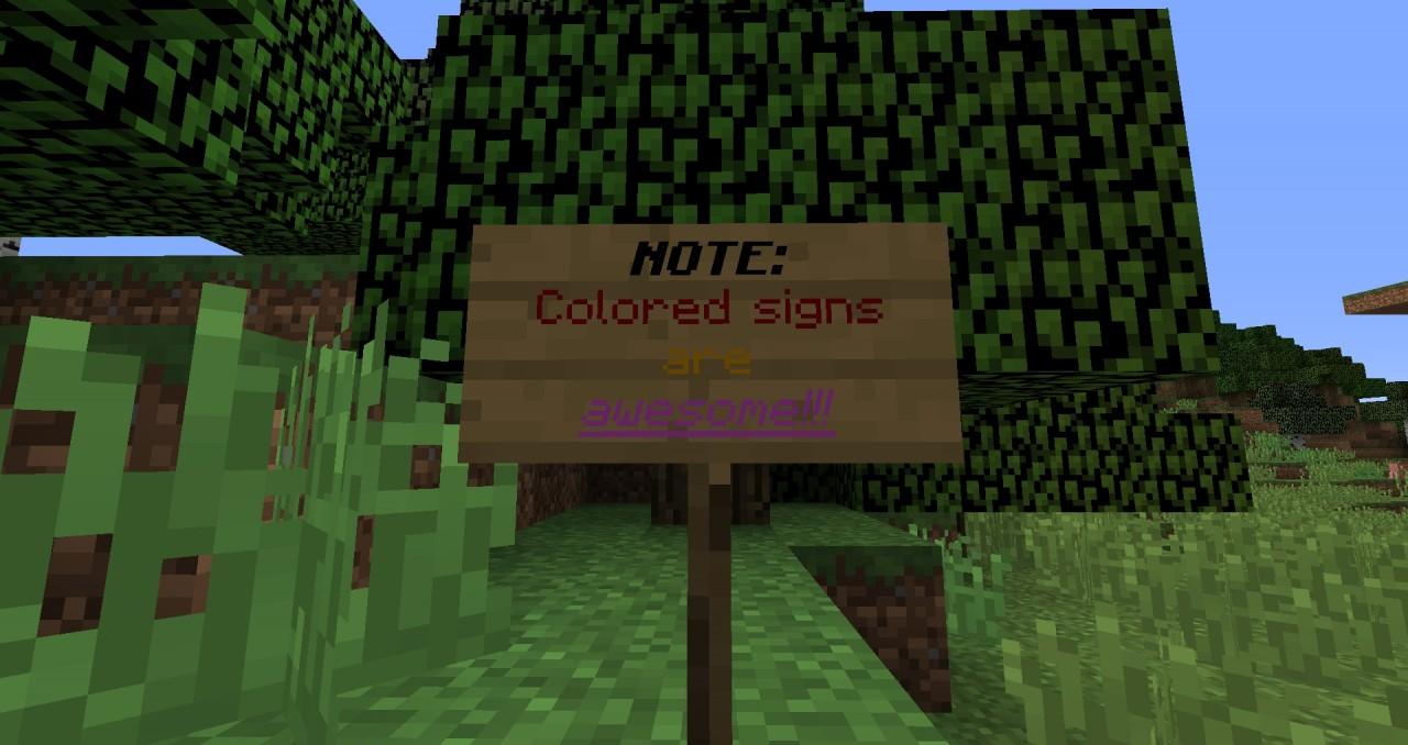 ColoredClickable Signs In Vanilla Minecraft Minecraft Blog - Minecraft single player teleport to coordinates