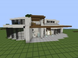 My First Modern House Minecraft Map & Project