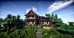 Log cabin Minecraft Map & Project