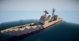 USS Ticonderoga Cruiser Minecraft Map & Project