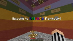 Rainbow Parkour Minecraft Map & Project