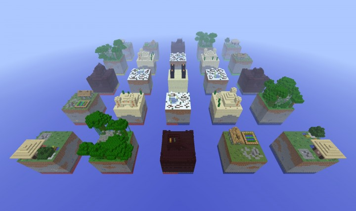 Aerial view of Chunk Wars arena