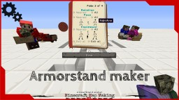 1.8 ArmorStand maker tool Minecraft Project