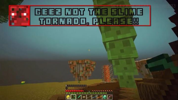 The slime tornado - gives you15 diamonds if you kill the slime on top